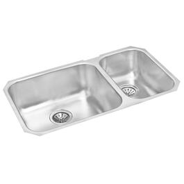 "31"" x 18"" x 8 1/8"" & 7 1/8"" Stainless Steel One and a Half Bowl Undermount Kitchen Sink thumb"