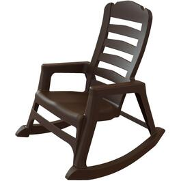 Earth Brown Big Easy Resin Stacking Rocking Chair thumb