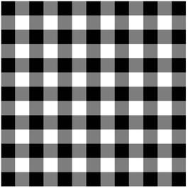 1 Yard Black and White Checkered Vinyl Tablecloth thumb