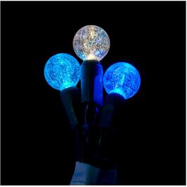 50 LED Warm White, Teal and Blue G20 Dazzle Light Set thumb