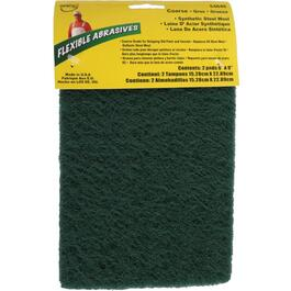 "2 Pack 6"" x 9"" Coarse Steel Wool Sanding Pads thumb"