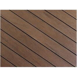 "1"" x 5-1/8"" x 12' AccuSpan Variegated Tropical Walnut Grooved Edge Deck Board thumb"