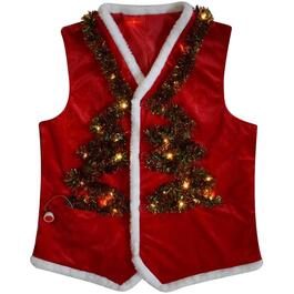 Lighted Ugly Christmas Vest, Assorted Patterns thumb