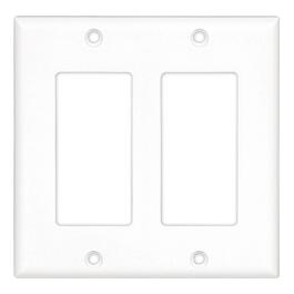 White 2 Device Switch Plate thumb