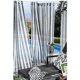 "84"" Black and White Hook and Loop Outdoor Curtain thumb"
