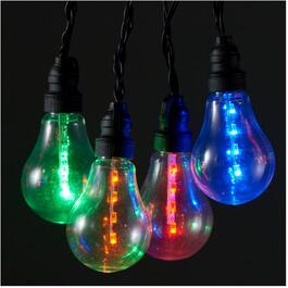 10 LED A19 Battery Operated Multi Colour Light Set thumb