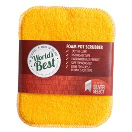 "6"" x 4.25"" World's Best Foam Pot Scrubber thumb"