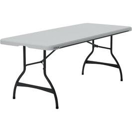 "72"" x 30"" Commercial White Rectangular Folding Table thumb"