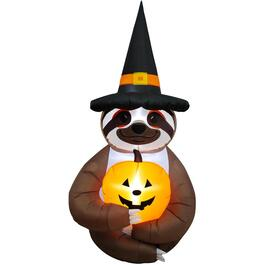 4' Witchy Sloth Halloween Airblown thumb