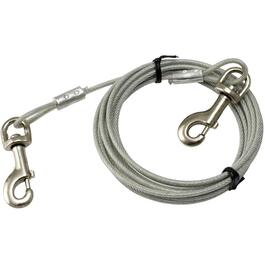 15' Heavy Duty Tie-Out Dog Cable, for Dogs Up to 180 lbs thumb