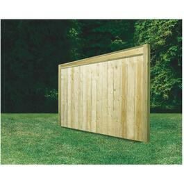 5' Pressure Treated 2x6 Jasper Privacy Top Fence Package thumb
