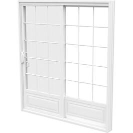 "6' x 6'8"" Fixed Operating 1+1 PVC Garden Door, with Grille thumb"