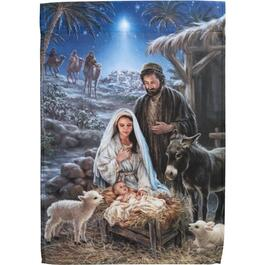 "12.5"" x 18"" Nativity Christmas Garden Flag thumb"