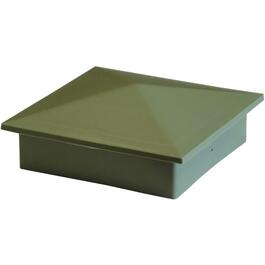 "4"" x 4"" Green Plastic Post Fence Cap thumb"