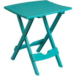 "15"" x 17"" Aqua Resin Folding Side Table thumb"