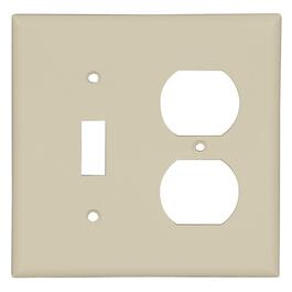 Ivory Duplex 1Toggle Switch Receptacle Plate thumb