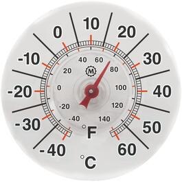 "7"" Round Suction Window Thermometer thumb"