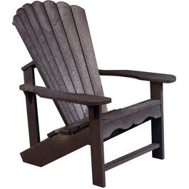 Espresso Recycled Plastic Adirondack Chair thumb