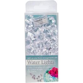 Battery Operated Waterproof Colour-Changing LED Light, with Acrylic Gems thumb