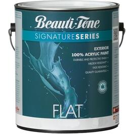 3.7L Flat Black Exterior Latex Paint thumb