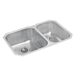 "27 1/8"" x 18"" x 8"" & 7"" Stainless Steel One and a Half Bowl Undermount Kitchen Sink thumb"