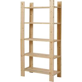 "60"" x 30"" x 12-1/2"" 5 Shelf Pine Wood Shelving thumb"
