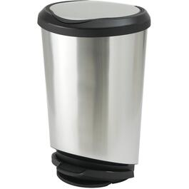 42L Stainless Steel Look Tondo Step-On Garbage Can thumb