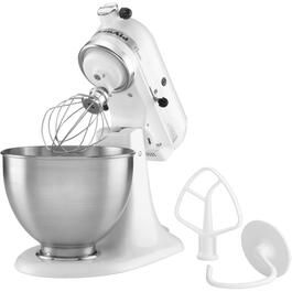275 Watt 10 Speed White Classic Stand Mixer, with 4.5 Quart Bowl thumb