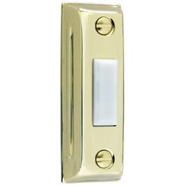 Lighted Wired Gold Plastic Doorbell Push Button thumb