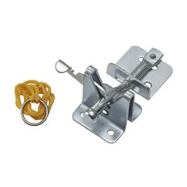"4"" Zinc Plated Adjustable Gate Latch thumb"