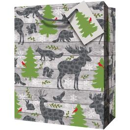 "12"" x 17"" x 4"" Paper Christmas Gift Bag, Assorted Designs thumb"