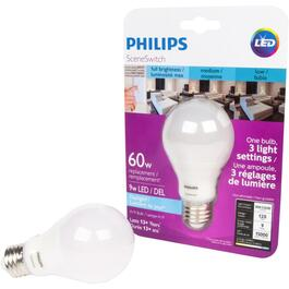 9W A19 Medium Base LED Light Bulb with 3 Colour Settings of Daylight thumb