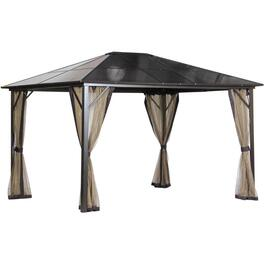 12' x 10' Brasilia Polycarbonate Hard Top Gazebo thumb