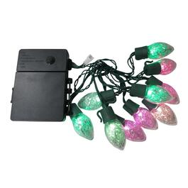 10 LED Colour Changing C7 Battery Operated Light Set thumb