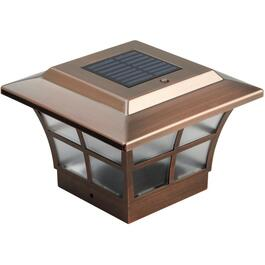 "6"" x 6"" Solar Copper Post Cap thumb"