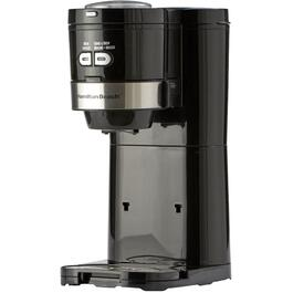 2 Cup Black/Stainless Steel Grind and Brew Coffee Maker thumb