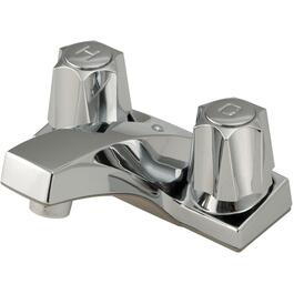 Chrome 2 Metal Handle Lavatory Faucet thumb