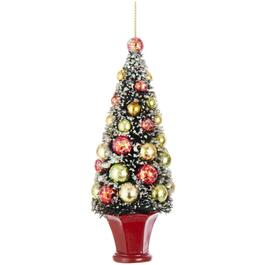 "5.5"" Sisal Tree Ornament, Assorted Colours thumb"