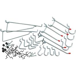 32 Pack Medium Duty Peg Hooks, Assorted Sizes thumb