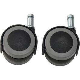 "2 Pack 2"" Grey Tread Twin Wheel 7/8"" Stem Casters thumb"