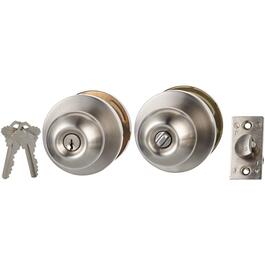 Satin Stainless Steel Bala Commercial Entrance Door Lock thumb