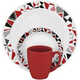 16 Piece Mosaic Red Dinnerware Set thumb
