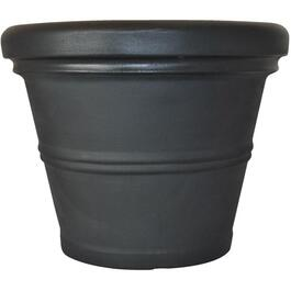 "24"" Black Rolled Rim Poly Planter thumb"