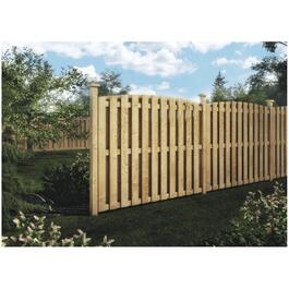 5' Pressure Treated Convex Top Board On Board Fence Package thumb