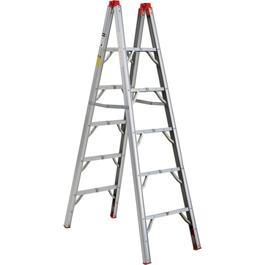 5 Step Folding Aluminum Ladder, with Carry Strap thumb