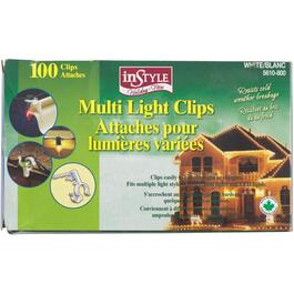 100 Pack White All Purpose Snap-In Light Clips thumb