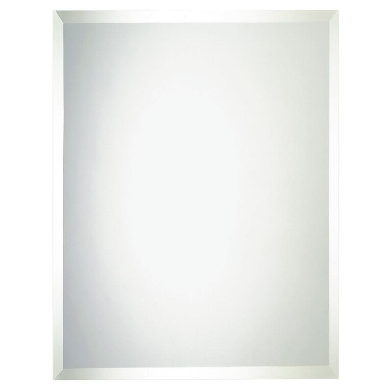Erias Home Designs 48 X 36 Frameless Bevelled Edge Wall Mirror
