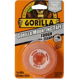 "1"" x 60"" Indoor/Outdoor Clear Mounting Tape thumb"