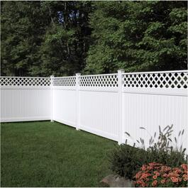 8' Brookhaven Privacy Lattice Top Panel Fence thumb