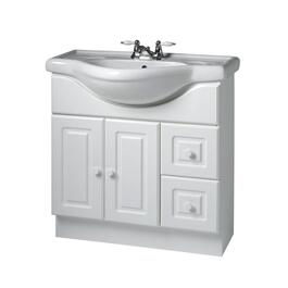 "32"" x 12"" 2 Door 2 Drawer White Vanity, with China Top thumb"